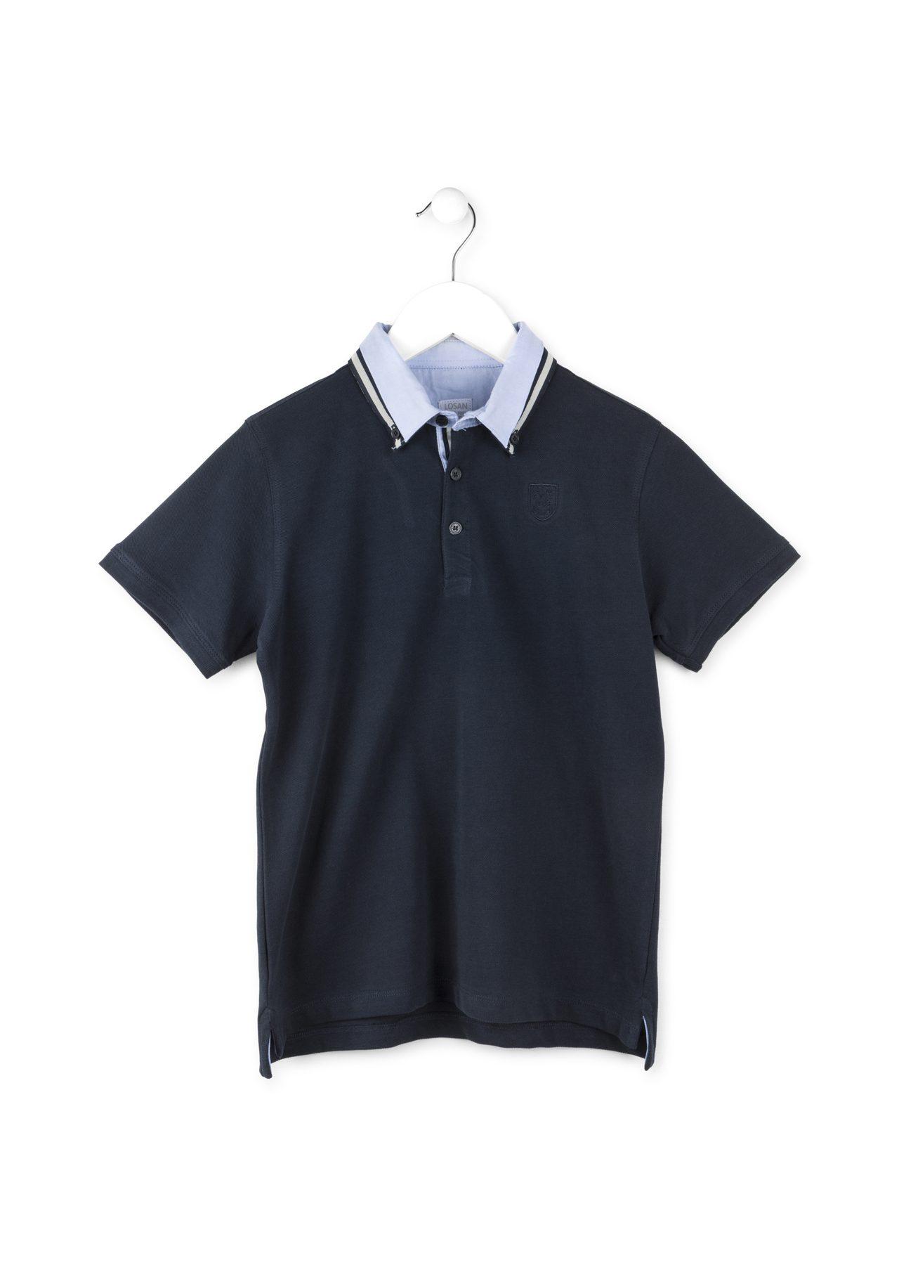Μπλούζα πόλο με λεπτομέρια στον γιακά LOSAN  fc159be8d65